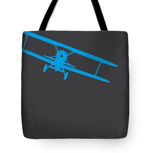 No535 My North By Northwest Minimal Movie Poster Tote Bag by Chungkong Art