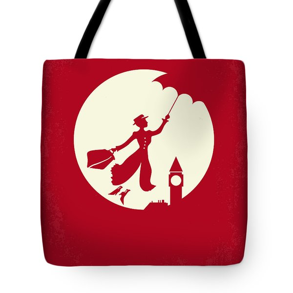 No539 My Mary Poppins Minimal Movie Poster Tote Bag