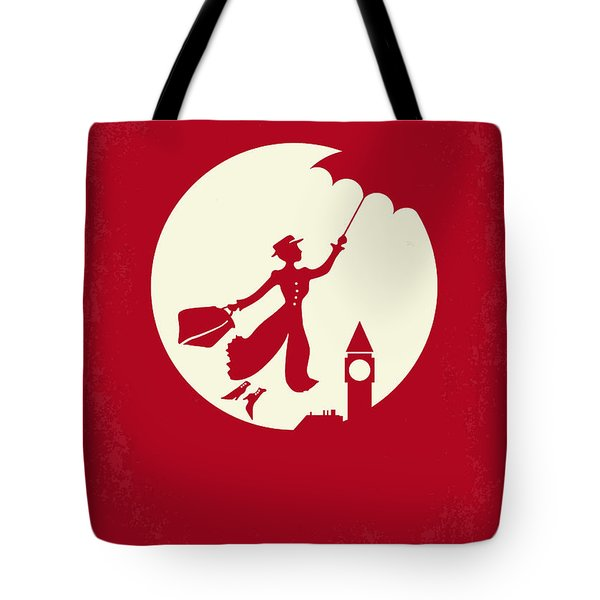 No539 My Mary Poppins Minimal Movie Poster Tote Bag by Chungkong Art