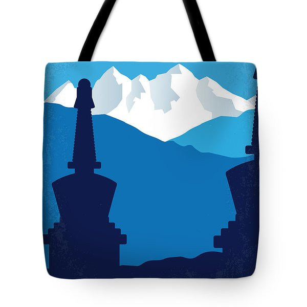 No559 My Seven Years In Tibet Minimal Movie Poster Tote Bag
