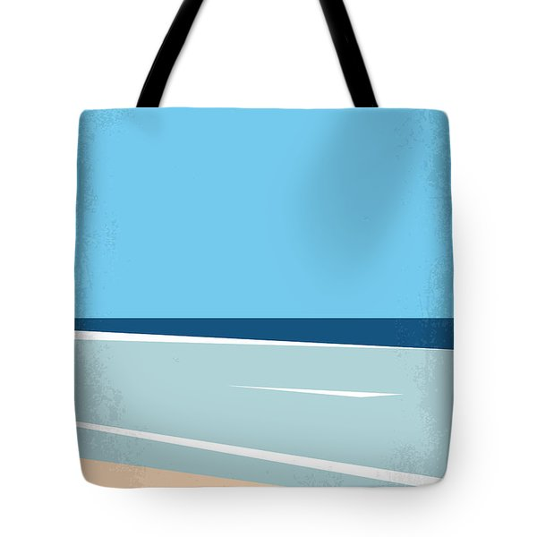No569 My The Beach Minimal Movie Poster Tote Bag
