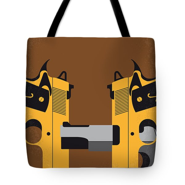 No576 My Face Off Minimal Movie Poster Tote Bag