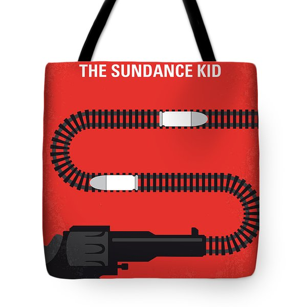 No585 My Butch Cassidy And The Sundance Kid Minimal Movie Poster Tote Bag