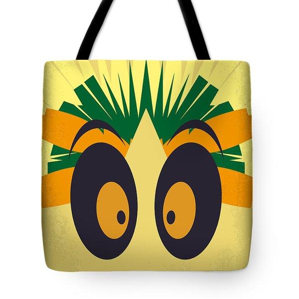No589 My Madagascar Minimal Movie Poster Tote Bag