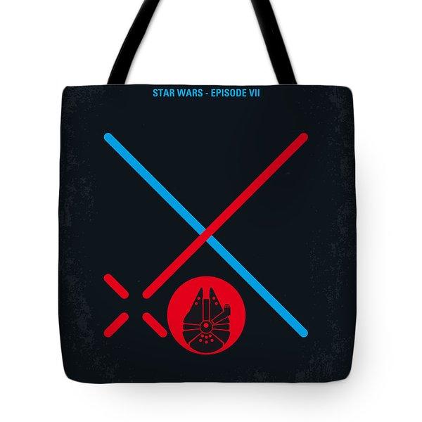 No591 My Star Wars Episode Vii The Force Awakens Minimal Movie Poster Tote Bag