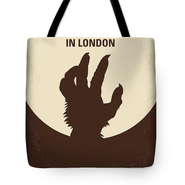 No593 My American Werewolf In London Minimal Movie Poster Tote Bag