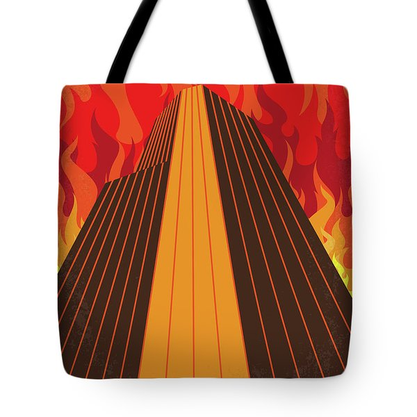 No665 My The Towering Inferno Minimal Movie Poster Tote Bag