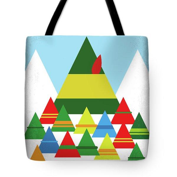 No699 My Elf Minimal Movie Poster Tote Bag