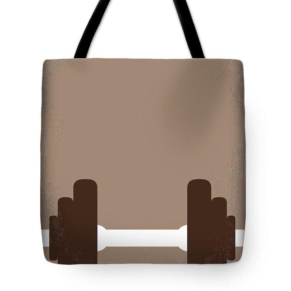 No707 My Pumping Iron Minimal Movie Poster Tote Bag by Chungkong Art