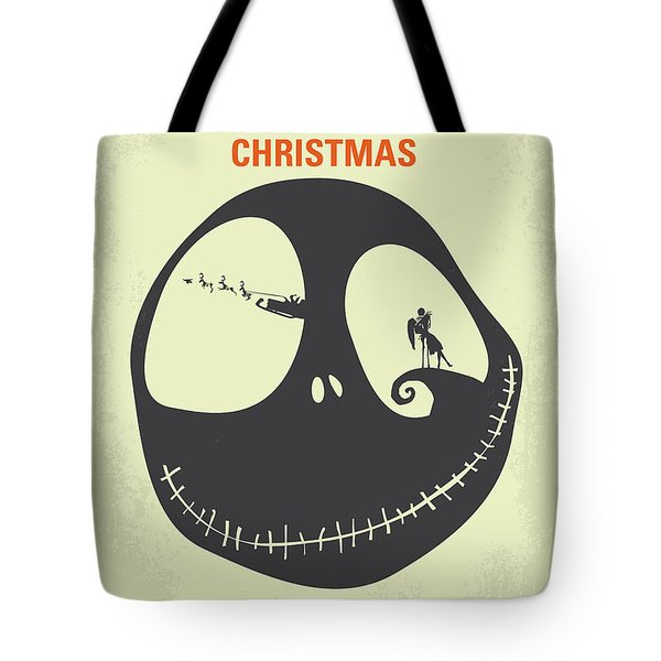 No712 My The Nightmare Before Christmas Minimal Movie Poster Tote Bag