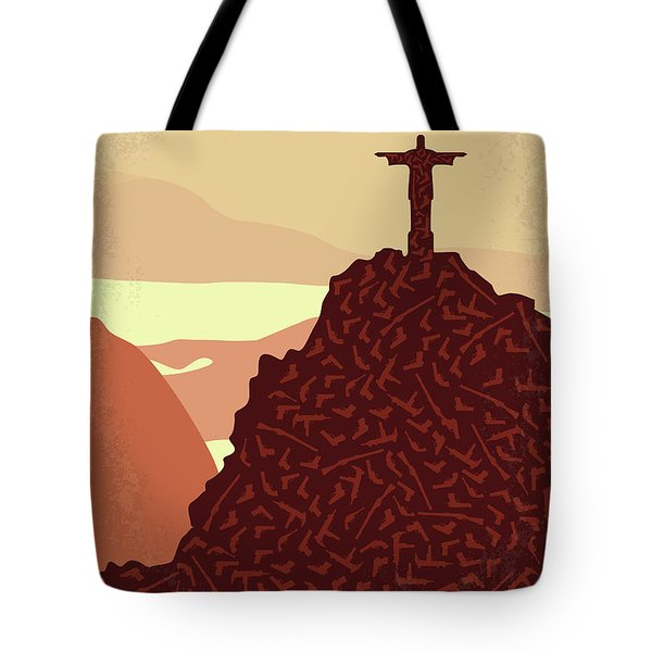 No716 My City Of God Minimal Movie Poster Tote Bag