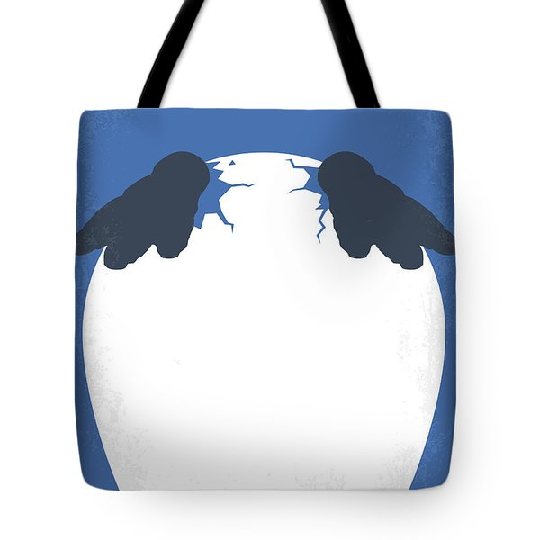 No744 My Happy Feet Minimal Movie Poster Tote Bag