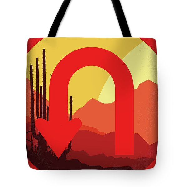 No745 My Uturn Minimal Movie Poster Tote Bag