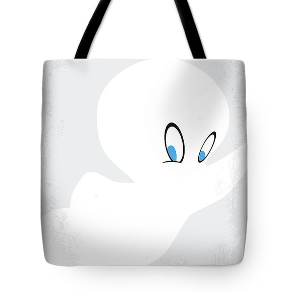 Tote Bag featuring the digital art No752 My Casper Minimal Movie Poster by Chungkong Art