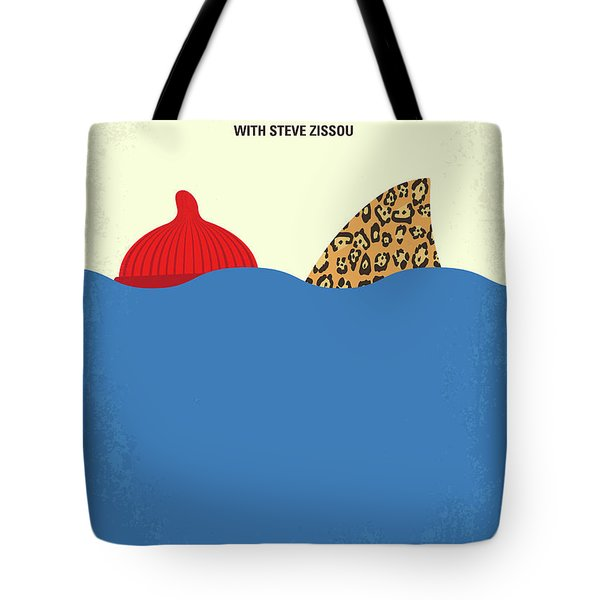 Tote Bag featuring the digital art No774 My The Life Aquatic With Steve Zissou Minimal Movie Poster by Chungkong Art