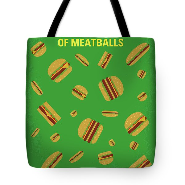 No778 My Cloudy With A Chance Of Meatballs Minimal Movie Poster Tote Bag