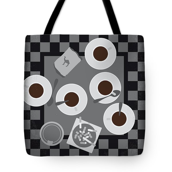 No808 My Coffee And Cigarettes Minimal Movie Poster Tote Bag