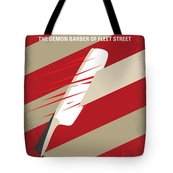 No849 My Sweeney Todd Minimal Movie Poster Tote Bag