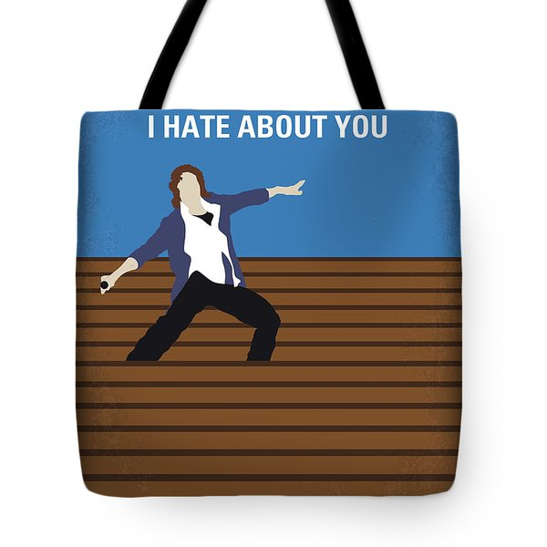 No850 My 10 Things I Hate About You Minimal Movie Poster Tote Bag
