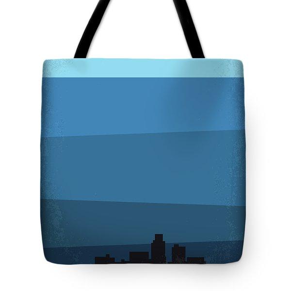 No857 My Waterworld Minimal Movie Poster Tote Bag