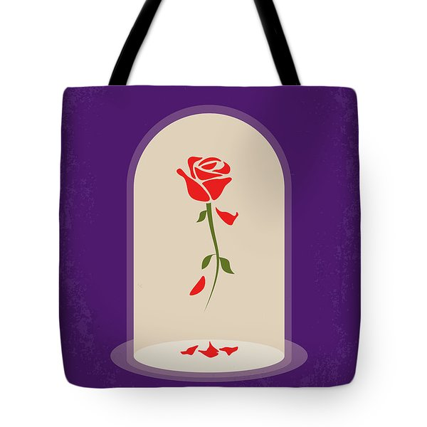 No878 My Beauty And The Beast Minimal Movie Poster Tote Bag
