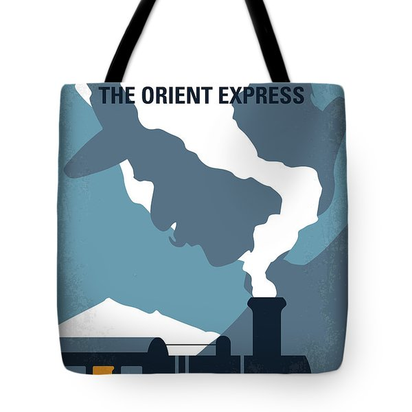 No883 My Murder On The Orient Express Minimal Movie Poster Tote Bag