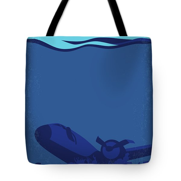 No912 My Into The Blue Minimal Movie Poster Tote Bag