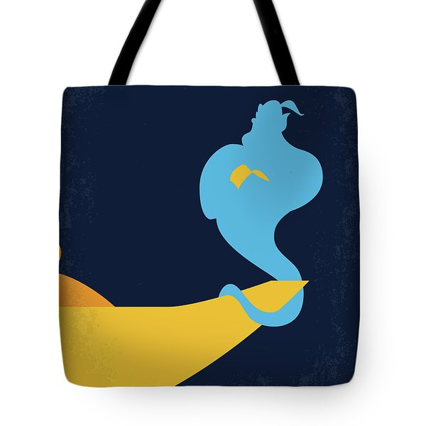 No920 My Aladdin Minimal Movie Poster Tote Bag