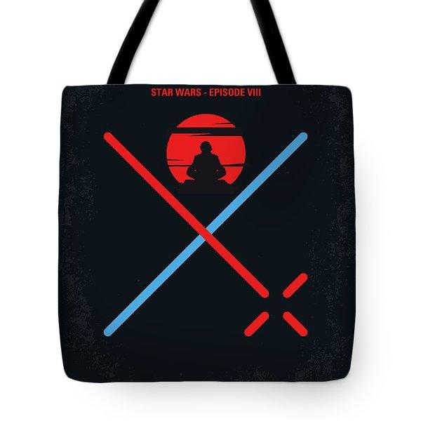 No940 My Star Wars Episode Viii The Last Jedi Minimal Movie Poster Tote Bag