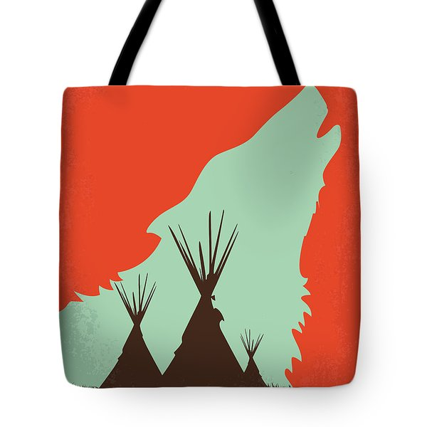 No949 My Dances With Wolves Minimal Movie Poster Tote Bag