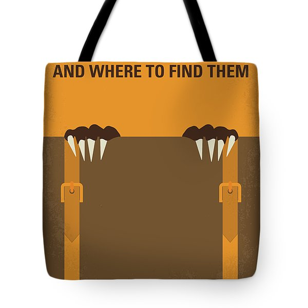 No962 My Fantastic Beasts And Where To Find Them Minimal Movie Poster Tote Bag