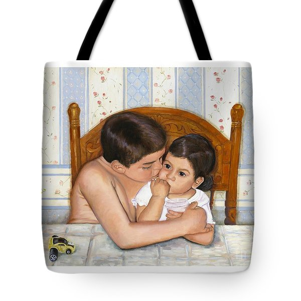 Noah Takes Time For Kira Tote Bag by Marlene Book