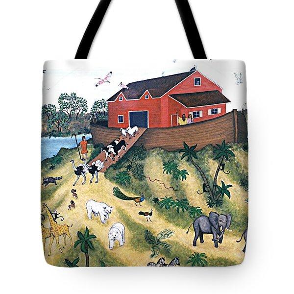 Noah's Ark Tote Bag by Linda Mears
