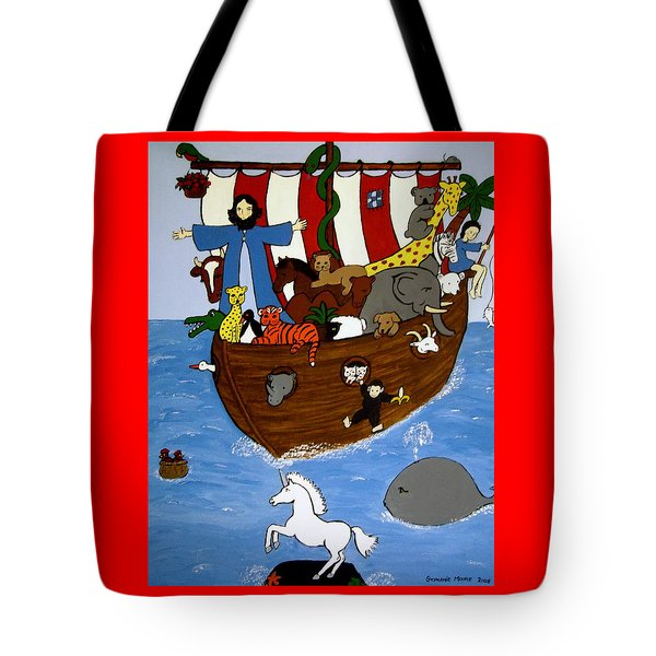 Tote Bag featuring the painting Noah's Ark by Stephanie Moore