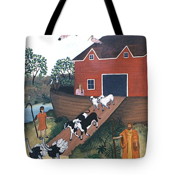 Noah's Ark Two Tote Bag by Linda Mears
