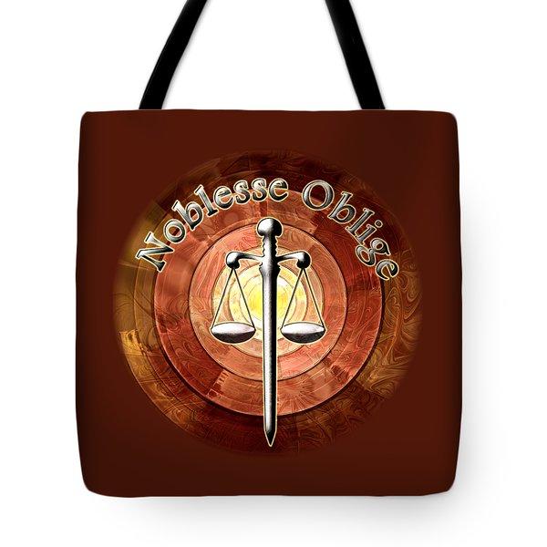 Noblesse Oblige Tote Bag by Anastasiya Malakhova