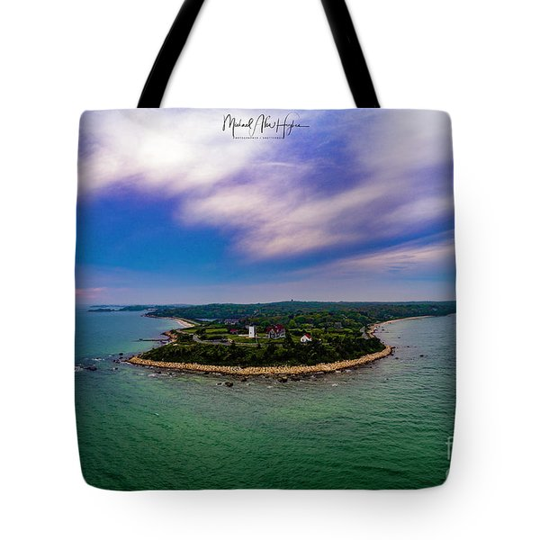Nobska Lighthouse Panorama Tote Bag