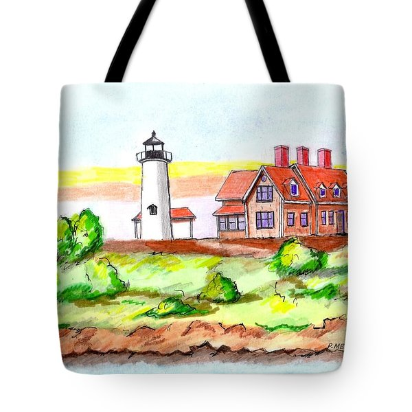 Nobska Point Lighthouse Tote Bag
