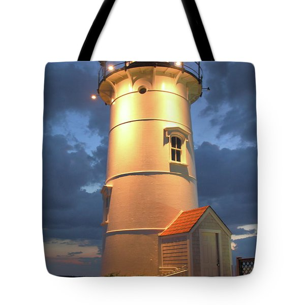 Tote Bag featuring the photograph Nobska Point Lighthouse by Roupen  Baker