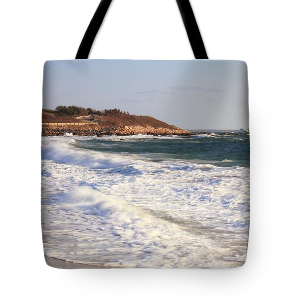 Nobska Point Seascape Tote Bag by Roupen  Baker