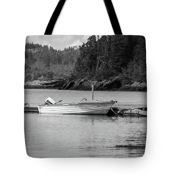 Noca Scotia In Black And White  Tote Bag