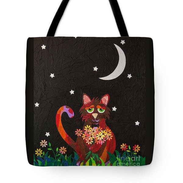 Tote Bag featuring the mixed media Nocturnal Romantic by Diane Miller