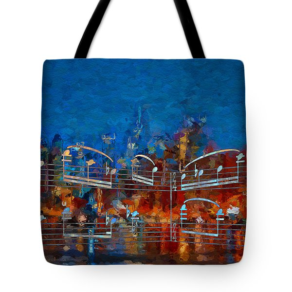 Tote Bag featuring the digital art Nocturne 3 by Lon Chaffin