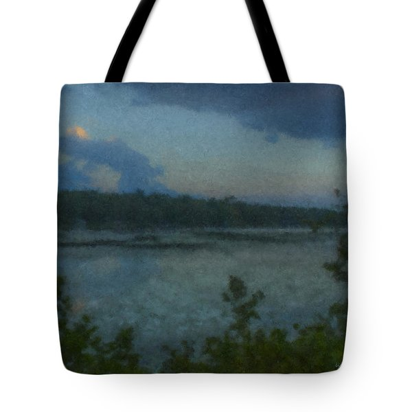 Nocturne At Ames Long Pond Tote Bag