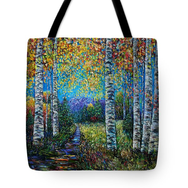 Nocturne Blue - Palette Knife Tote Bag