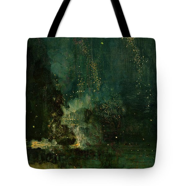 Nocturne In Black And Gold - The Falling Rocket Tote Bag by James Abbott McNeill Whistler