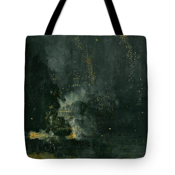 Nocturne In Black And Gold  Tote Bag by James A M Whistler