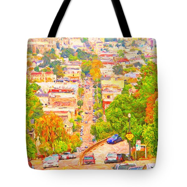 Noe Street San Francisco Tote Bag by Wingsdomain Art and Photography