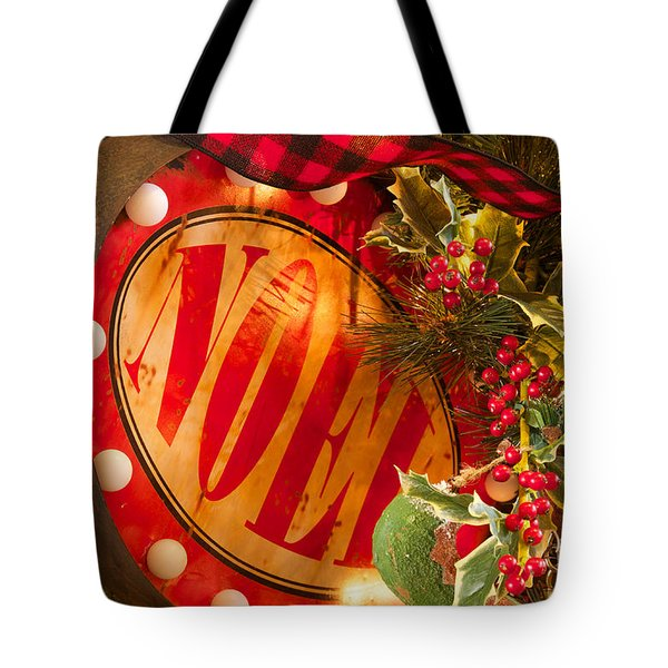 Tote Bag featuring the photograph Noel Sign by Vinnie Oakes