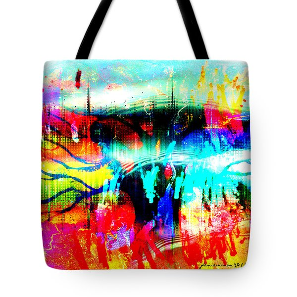 Noel Tree Tote Bag by Fania Simon
